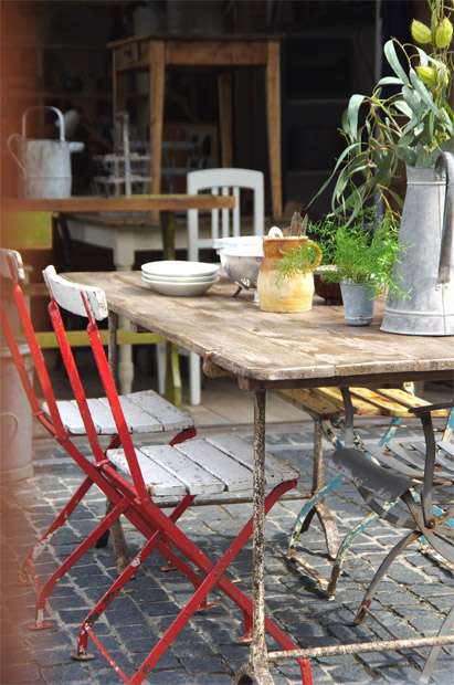 アトリエテーブル アンティーク ガーデンテーブル 福岡 ALBUM 家具