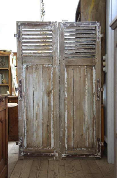 アンティーク家具 福岡市城南区 建具 フレンチシャッター ドア
